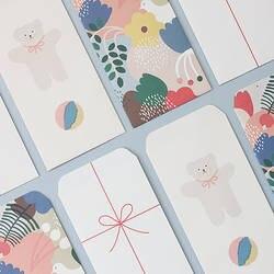 4 шт./компл. Kawaii мультфильм Корея бумага конверт мини маленький медведь подарок для ребенка изготовленные вручную конверты свадьбы