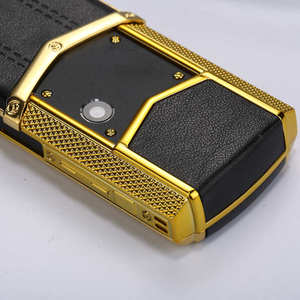 Image 5 - Clearance sale Luxury metal+leather mobile phone original china gsm gift Phone dual sim Cell Phones bluetooth mp3 K8 K6 phone
