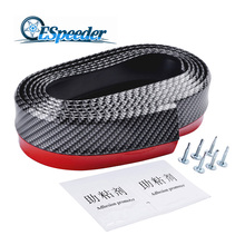 High Quality 2.5M Front Bumper Lip Car Protector Carbon fiber Rubber Spoiler Bumpers Car Rubber Strip Splitter Body Kit speedwow 2 5m 8 2ft universal car front bumper lip splitter carbon fiber car rubber bumper spoiler protector car bumper strip