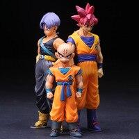 Anime Dragon Ball Z Super Saiyan Trunks Goku Krilin Acción PVC Figuras de Colección Modelo Juguetes Para Niños Muñeca