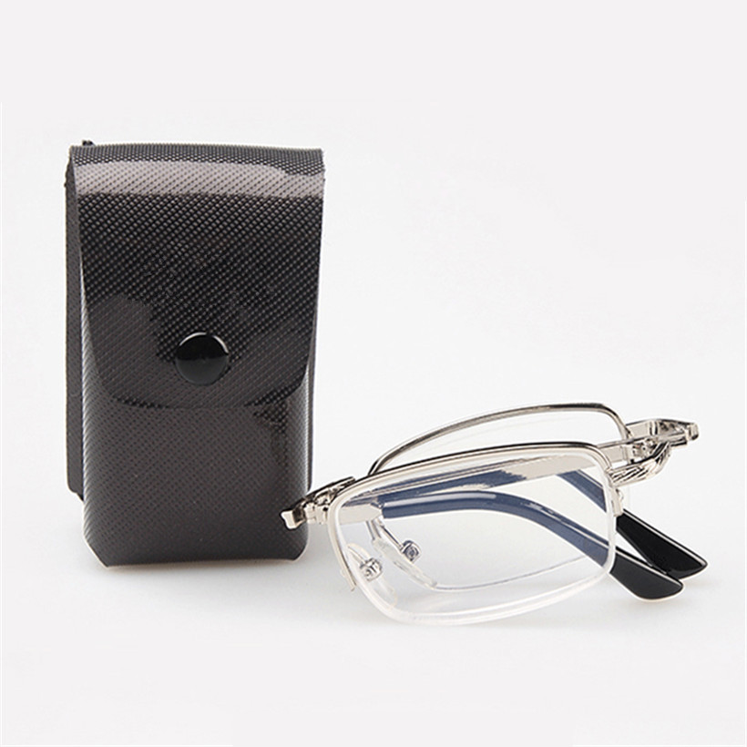UVLAIK Folding Reading Glasses Men Women Presbyopic Glasses High Quality Foldable Half frame Reading Glasses 1.5 2.0 2.5 3.0 3.5