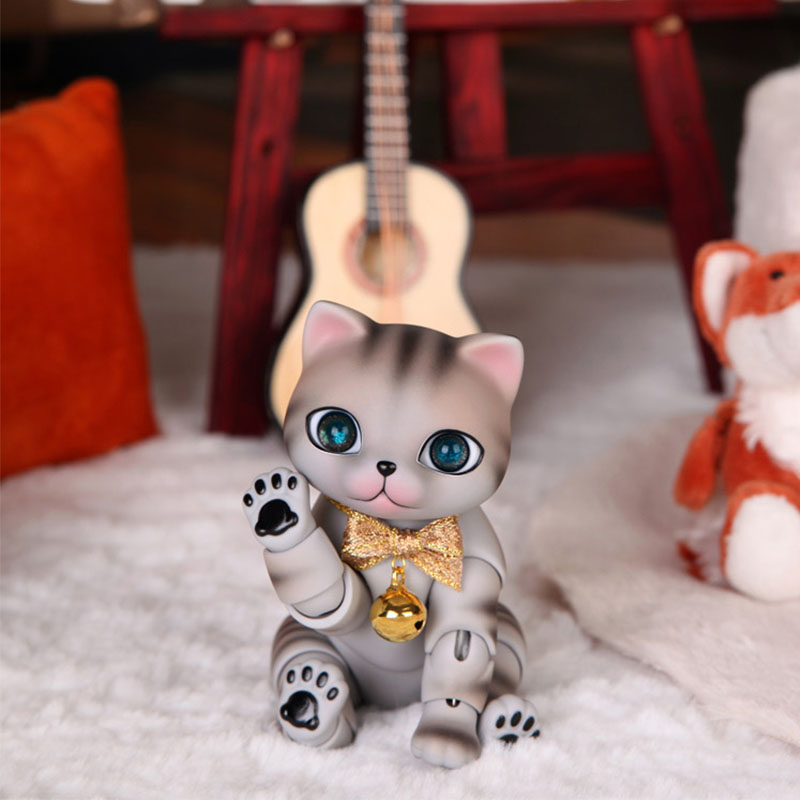 OUENEIFS zuzu nyang cat pet doll bjd sd resin figures ai yosd volks kit doll not for sales toy baby tsum reborn handsome grey woolen coat belt for bjd 1 3 sd10 sd13 sd17 uncle ssdf sd luts dod dz as doll clothes cmb107