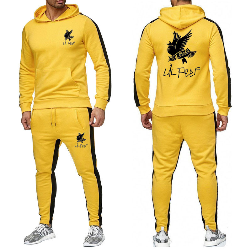 Mens Survetement 2019 New Mens Fashion Brand Tracksuit Sweater Casual Hat Hooded Men Winter Tracksuits Suit Men's Sportswear