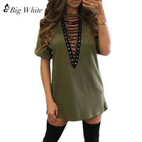 2017 New Sexy Women S Deep V Neck Shirts Tops Short Sleeve Hollow Out Shirts Nightclub