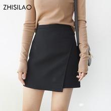 a25e8b8bf1 ZHISILAO 2018 Woman Skirts Woman Pencil Skirt lolita Bodycon Sexy Slim High  Waist Jupe Petticoat Skinny Black Skirt Cotton Robe