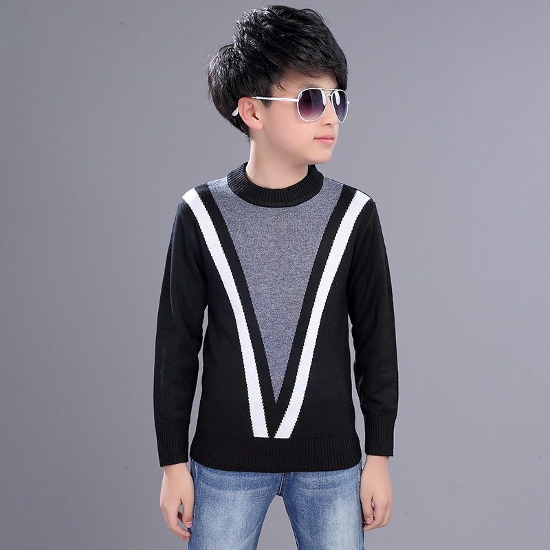 2018 winter clothing boy 39 s clothes round neck pullover. Black Bedroom Furniture Sets. Home Design Ideas