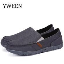 YWEEN Spring Mens Casual Shoes Slip on Men Canvas Free Shipping Big size eur38-eur48
