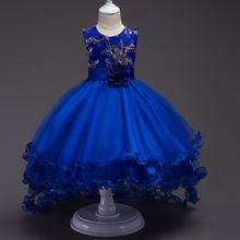 Платья для девочек вечерние ринку и свадьбу платья принцессы