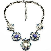 2017 Promotion New Arrival Collier Collares Maxi Necklace Royalblue Crystal Luxury Necklace Statement Collar Jewelry Fashion