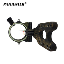 PATHUNTER Fiber 3-PIN 0.029''Optic Busur Sight LED Sight Of Bow Aksesoris Untuk Berburu Peralatan Panahan
