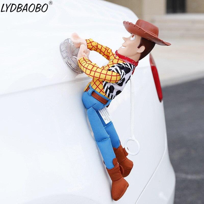 25-45 Cm Mooie Toy Story Sherif Woody Auto Pop Pluche Speelgoed Buiten Hangen Speelgoed Leuke Auto Accessoires Hot Verkoop Auto Decoratie Speelgoed