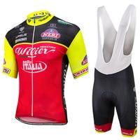 2017 ITALIA Cycling Jersey Bike Shorts Set Breathable Ropa Ciclismo MTB Bike Wear Summer BICYCLING Maillot