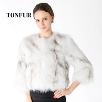 100% True Fox Fur Coat Natural Fur Jacket Real Fox Fur Waistcoat Fashion Factory Brand Fur Wholesale Custom plus size DNT184