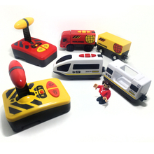 Free shipping Remote control electric magnetic link compatible BRIO wooden track white Harmony train and red worldwide train