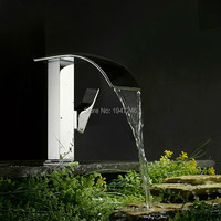 Patent Design High Quality Waterfall Basin Mixer Tap Single Handle Single Hole Vessel Bathroom Waterfall Faucet