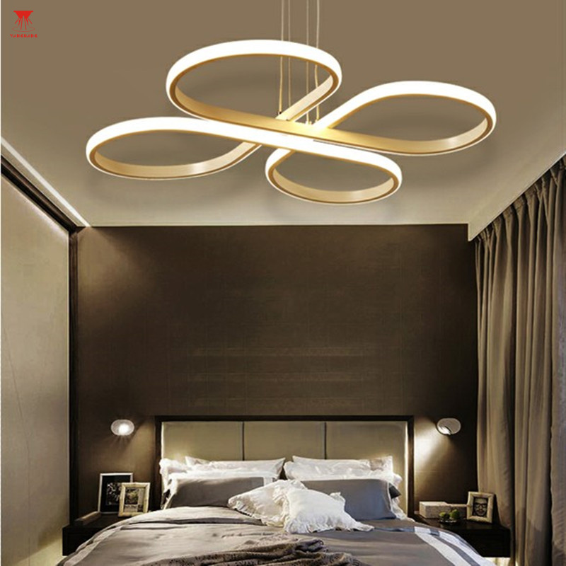 Lustre LED Chandelier Lighting Modern White Pendant Hanging Ceiling Fixtures Remote Control Living Room Indoor Home Decoration modern crystal chandeliers home lighting decoration led pendant lamp ring hanging lamps indoor fixtures with remote control