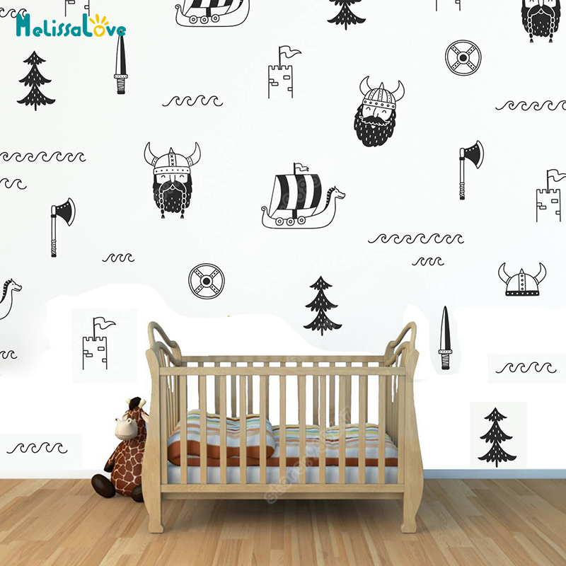 Viking Wall Stickers Home Decor Bedroom