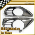 For Nissan R35 GTR 2PCS Carbon Fiber MCR Style Exhaust Surrounds Rear Bumper Heat Shield