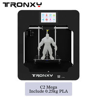 Smart Assembled 3D Printer Tronxy C2 For Educators and Innovators 3.5 Inches Touch Screen 8G SD Card 0.25kg filament as gift