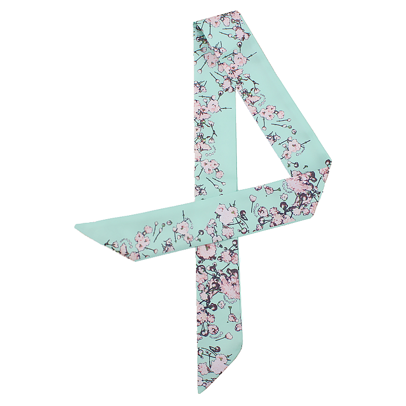 Floral Print Long Skinny Scarf Women Small Ribbon Bag Scarfs Tie Female Hair Neck Scarves Head Band Fashion 2020