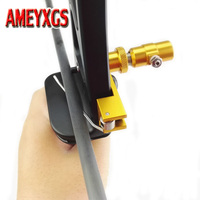 1set Archery Arrow Rest Stainless Steel Magnetic Recurve Bow Arrow Rest Adjustable RH LH Arrow Rest Hunting Accessory