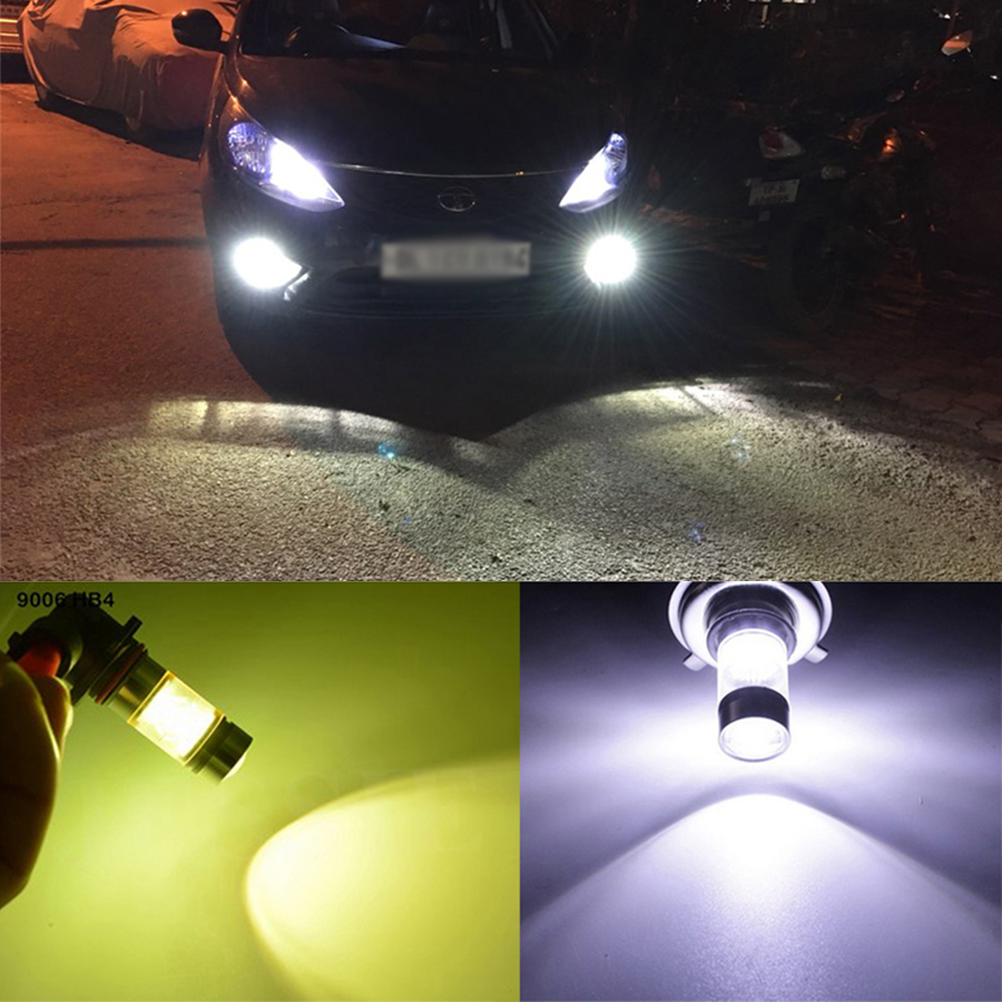 2 Pcs 100W H4 H13/9008 9007/9004 LED bulb 20 SMD Car Fog light 12V ~ 24V Car Light White 6000K Yellow Amber 3000K ,h4 100w 24v