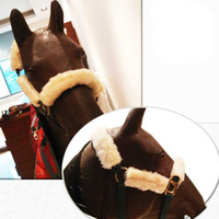 Horse Leading Protector Set Lamb Cashmere Face Protect Head Guard And Nose Horse Equipment Horse Riding