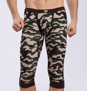 New Camouflage Men Modal Skinny Shorts,Man Comfort Home Sleep Wear Short Elastic Waist Band Top Quality S16