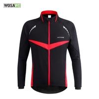 Wosawe冬秋防風サイクリングジャケット長袖mtbマウンテンロードバイクジャージー服反射自転車風コート