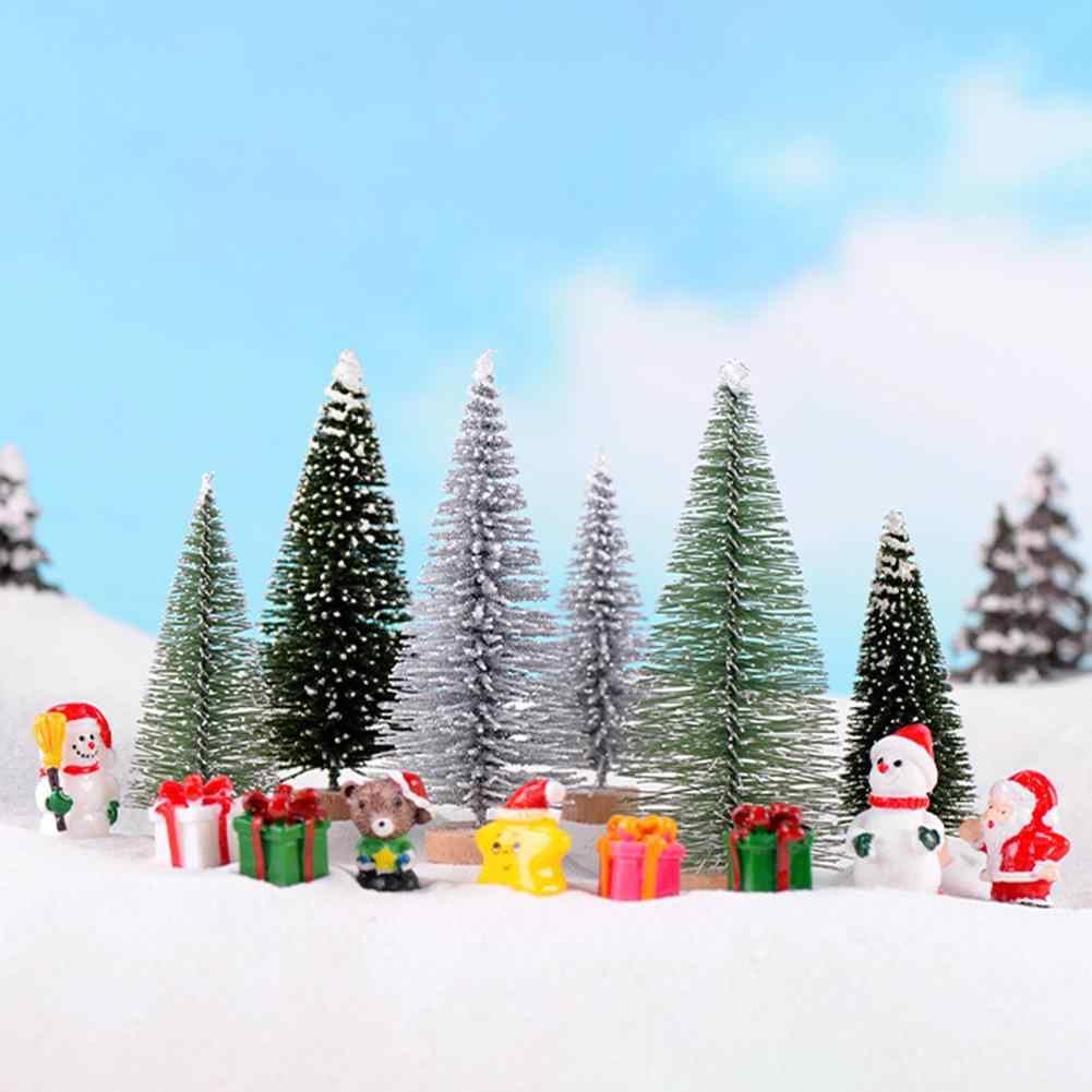 Árvore de natal micro vista mini árvore de natal ornamento de mesa decoração de casa 10-25cm transporte rápido