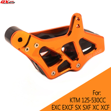 CNC Chain Guide Chain Guard For KTM 125-530 EXC EXCF SX SXF XC XCF XCF-W XCW 08-15 Motocross Enduro Supermoto Free shipping цена