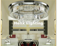 Modern Stainless Steel Crystal Ceiling Light Fixture Modern Ceiling Light Chrome Ceiling Light Lighting Lamp AC