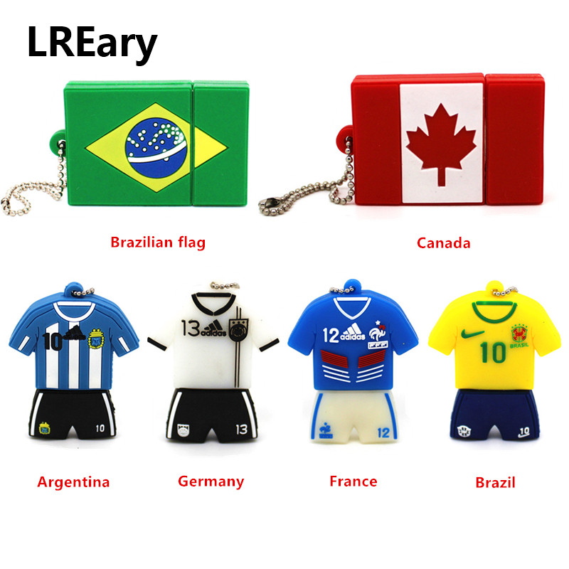 Punctual New Brazil/canada Flag Model Memory Stick 32gb 64gb Usb Flash Drive 4gb 8gb 16gb Pendrive Football Player Jersey Pen Drive Cleaning The Oral Cavity. Usb Flash Drives