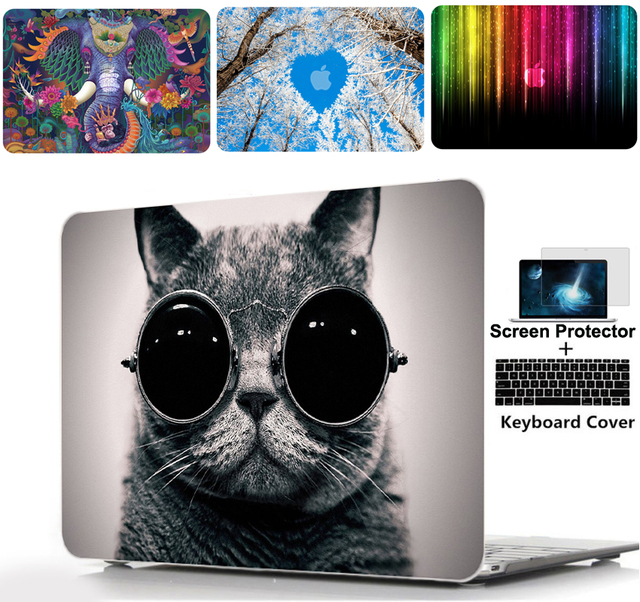 Color printing Hard Shell Case Keyboard cover For Alppe Macbook Pro 13 15 Touch Bar 13 15 Air 11 13 Pro Retina 12 13 15 inch
