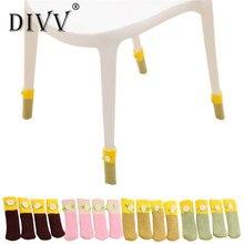 4 шт. стул ножки стола стопы Чехлы для мангала пол протекторы цветочный Kint крышки горячей u70717