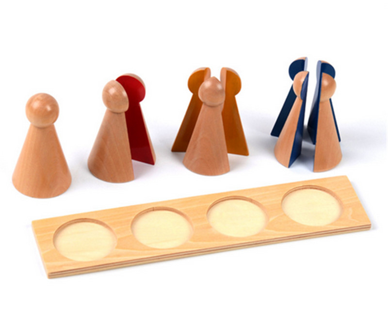 New Baby Toy Montessori Family Version Small Fraction Skittles with Tray Wood Early Preschool Kids