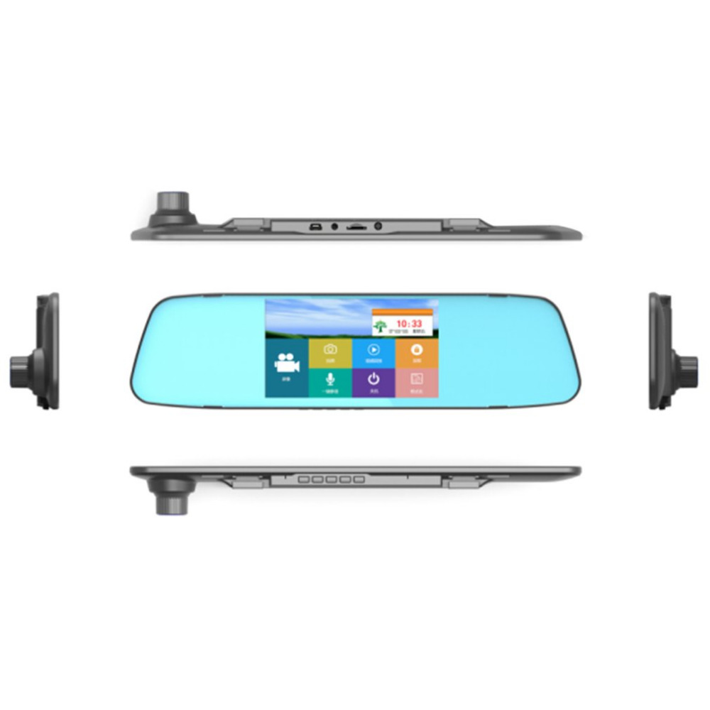 7.0 Inches Touch Screen Car DVR Camera Starlight Night Vision Dual Lens Rear View Mirror DVR 1080P Video Recorder
