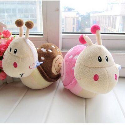 Enayi ile 20 cm Moda küçük Salyangoz Peluş oyuncak bebek oyuncakları çocuk aksesuarları düğün için oyuncak bebek çocuk Hediye Çocuklar Için oyuncaklar