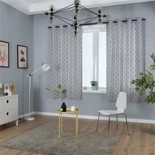 Moderne Platteland Print Raamdecoratie Gordijn Katoen Effen voor Woonkamer Slaapkamer Hotel Home Deco Verduisteringsgordijn cortinas