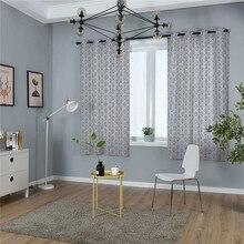 Moderne campagne impression fenêtre traitement rideau coton solide pour salon chambre hôtel maison déco occultant rideau cortinas