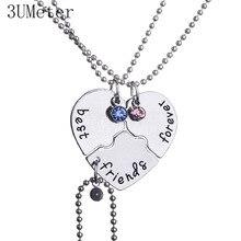 3UMeter Necklace for Women 2019 New Best Friend Froever Cross Love Splice Good Custom Set Gift For Girlfriends
