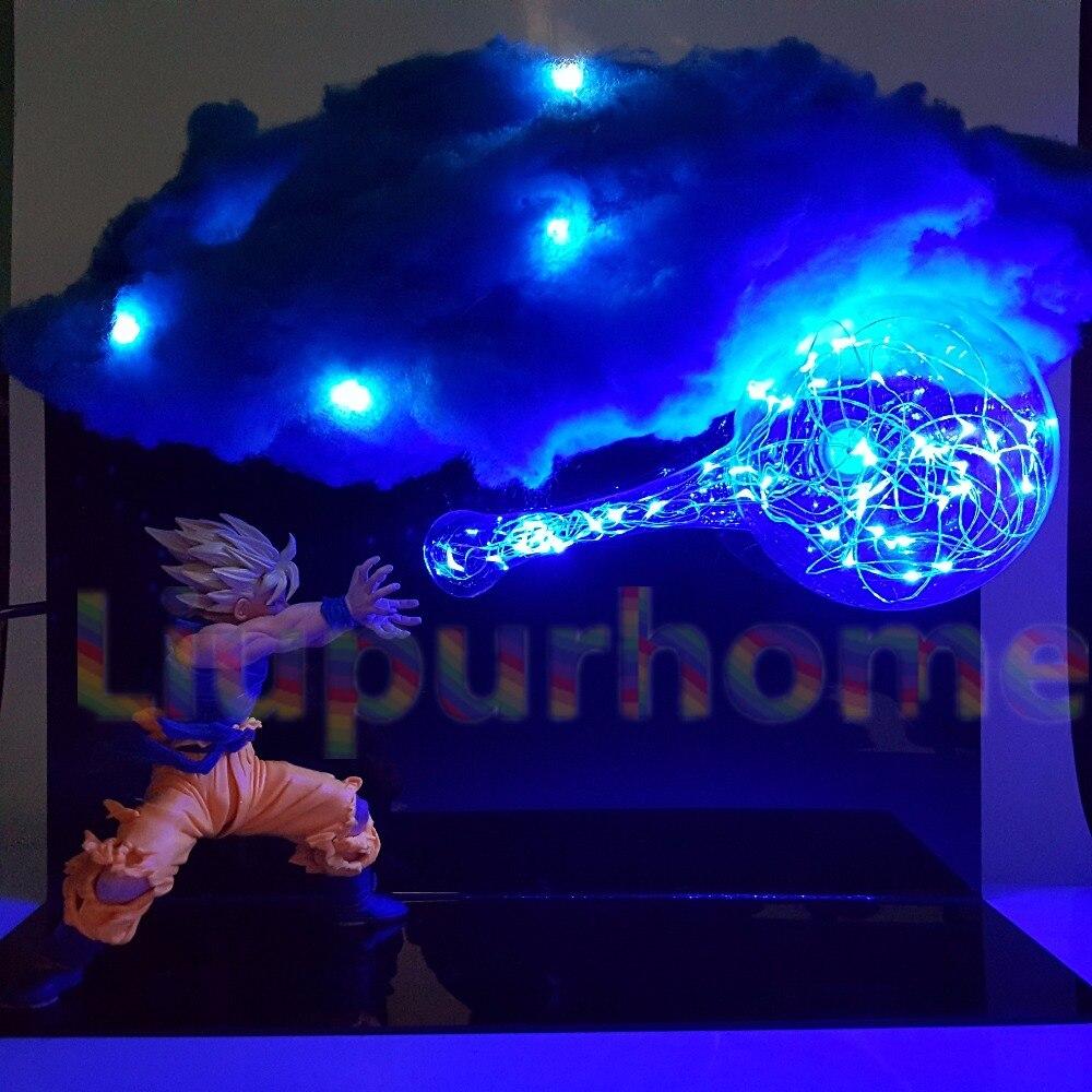 Dragon Ball Goku Kamehameha BRICOLAGE Lumières Led Ampoule Lampe Dragon Ball Z Goku Super Saiyan Led Nuage Veilleuses pour Cadeau
