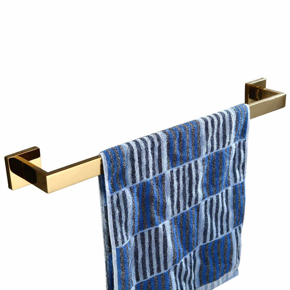 ליידן זהב 304 נירוסטה 4 יחידות סט אביזרי אמבטיה מחזיק נייר טואלט מחזיק טבעת מגבת מגבת בר יחידה Robe וו
