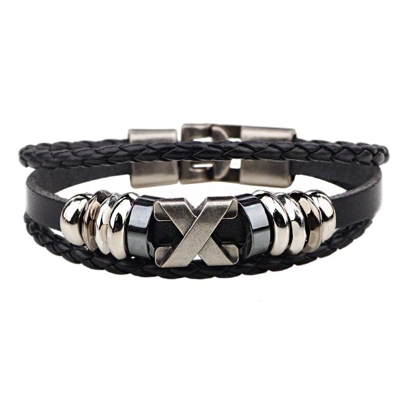 Cc191 Western Fashion X Beaded Bracelet Homme Leather Femme Woven Mens Bracelets For Women Braclet Pulsera Bijouterie In Charm From