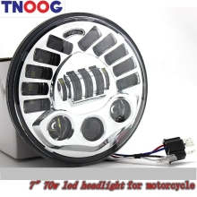 "TNOOG For harley Davidson motorcycle 7"" Round Daymaker led projector headlamp 7 inch led headlight with Hi/Lo beam 70W"