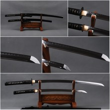 Fully Handmade 1095 Carbon Steel Clay Tempered Blade  Full Tang Sharp Japanese Samurai Swords Set Katana & Wakizashi