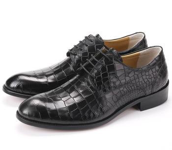 b1359fadb3b CLORISRUO talla grande EUR45 Serpentine negro/marrón GOODYEAR WELT zapatos  para Hombre Zapatos de vestir Zapatos de negocios de cuero genuino para  hombre