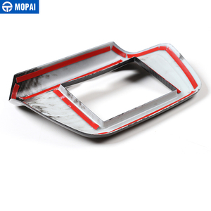 Image 5 - MOPAI Car Interior Navigation Screen GPS Panel Decoration Frame Cover Sticker for Chevrolet Camaro 2017 Up Accessories Styling