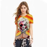 Harajuku Neue Marke Mode Frauen T-shirt Digital Print Sexy Marilyn T-shirt Shirts Weibliche Top Camisetas Feminina Sommer Stil