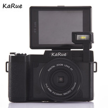 KaR CDR2 24MP Digital Camera Full HD 1080P 3.0″LCD Rotatable Anti-shake 4X Video DV Recorder Cam w/Wide-angle Lens